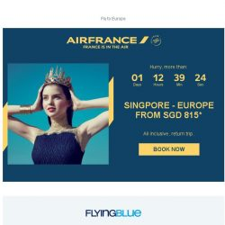 [AIRFRANCE] Don't miss our Deals to Europe!