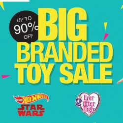 Metro: Big Branded Toy Sale with Up to 90% OFF Barbie, Hotwheels, Megabloks & More