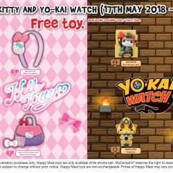 McDonald's: FREE Hello Kitty or Yo-Kai Watch Toy with Every Happy Meal Purchased