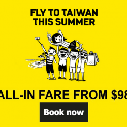 Scoot: Fly to Taipei or Kaohsiung from just $98 All-in!