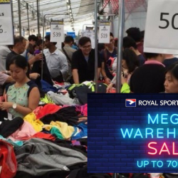 Royal Sporting House: Mega Warehouse Sale with Up to 70% OFF Nike, Reebok, Adidas, Speedo & More!