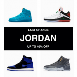 Nike: Last Chance to Grab Select Jordan Retro Styles at Up to 40% OFF!