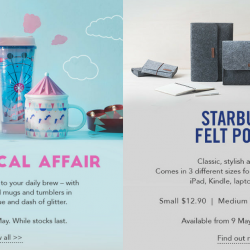 Starbucks: NEW A Whimsical Affair Collection & Starbucks Felt Pouches