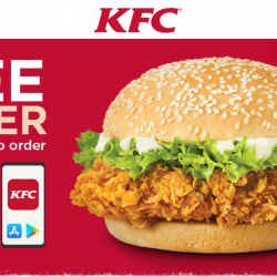 KFC: FREE Zinger worth $5.30 with Your 1st App Order!