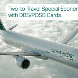 Cathay Pacific: Two-to-Travel Special Economy Class Fares from SGD$228 All-In with DBS/POSB Cards