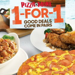 Pizza Hut: Enjoy 1-for-1 Mains on Weekdays!