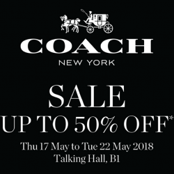 Coach: Special Sale with Up to 50% OFF at Takashimaya