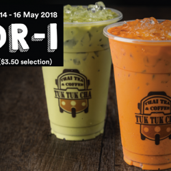 Tuk Tuk Cha: Enjoy 1-for-1 Large Drink with FavePay!