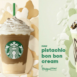 Starbucks: NEW Milk Tea Panna Cotta Cream Frappuccino® & Pistachio Bon Bon Cream Frappuccino®