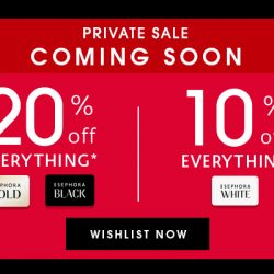 Sephora Singapore: Private Sale 2018 with Up to 20% OFF on ALL Brands Online, In-App & In Stores!