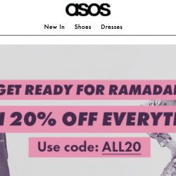 ASOS: Enjoy 20% OFF Every Single Thing!