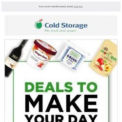 [Cold Storage] 🌟👀🌟Your weekly grocery deals have arrived!!