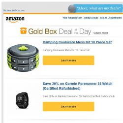 [Amazon] Camping Cookware Mess Kit 10 Piece Set