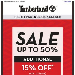 [Timberland] ONLINE EXCLUSIVE! Grab up to 50% OFF* just for you!