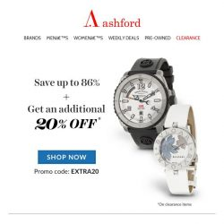 [Ashford] MAX SAVINGS on clearance watches