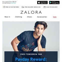 [Zalora] Ends tomorrow 9AM: EXTRA 30% off with NO MIN SPEND!