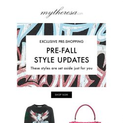 [mytheresa] Exclusive pre-shopping: get the Pre-Fall key pieces before everyone else