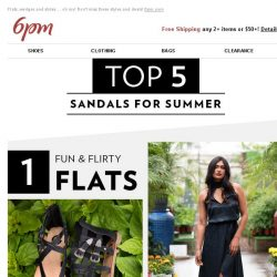 [6pm] Top 5 Sandals for Summer (you need these)!