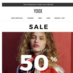 [Yoox] Sale up to an EXTRA 50% OFF even more items