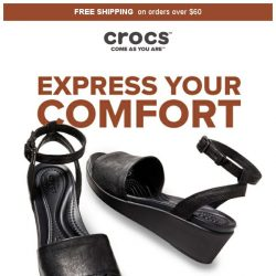 [Crocs Singapore] Wedge of the Summer✨ Try Crocs' leather wedge! Both Stylish and comfy💖
