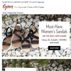 [6pm] Must-have sandals are here (and on sale)!