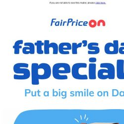 [Fairprice] Father's Day Specials