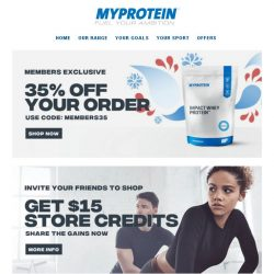 [MyProtein] , Enjoy Members Only Exclusives 🎟️
