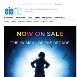 [SISTIC] Direct from London's West End, Matilda The Musical is now on sale!