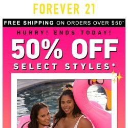 [FOREVER 21] SELLING OUT SOON! 50% OFF