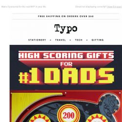 [typo] Last chance to score gifts for Dad.