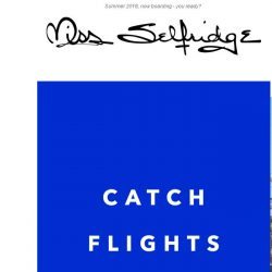 [Miss Selfridge] Look fly when you fly ✈️
