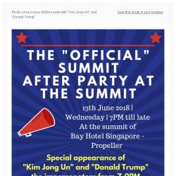 "[Bay Hotel] The ""Official' Summit After Party at the summit"