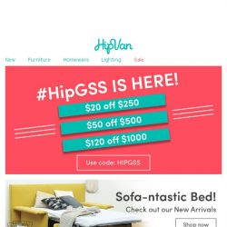 [HipVan] Be Sofa Bed Savvy👍| New Arrivals Added