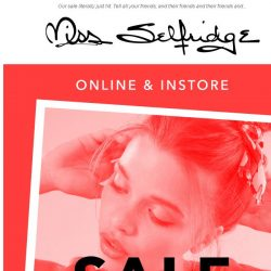 [Miss Selfridge] Don't panic but SALE IS HERE - up to 50% off ✨