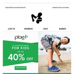 [Mdreams] Plae Shoes: up to 40% off - Are your kids ready to Play?
