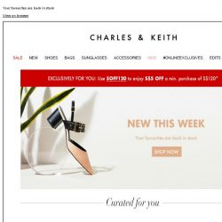 [Charles & Keith] Check out what's new this week