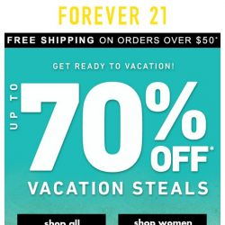 [FOREVER 21] 70% OFF?! HURRY!!!