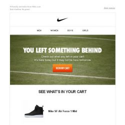[Nike] Don't Forget What's in Your Cart