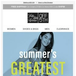 [Saks OFF 5th] Let's do this, summer: the 5 styles you need