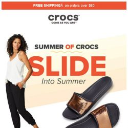 [Crocs Singapore] ☀️SLIDE into summer with Crocs! Meet our best selling slides & flips for everyone
