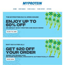 [MyProtein] [Now Live] The Great Raya Sale!