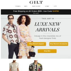 [Gilt] This Just In: Luxe New Arrivals for All