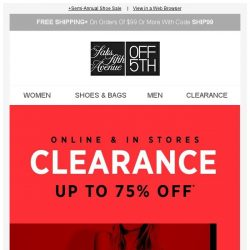 [Saks OFF 5th] Up to 75% OFF freshly cut clearance ❗