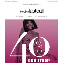 [Last Call] 40% off . . . but not for long