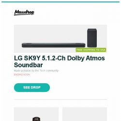 [Massdrop] LG SK9Y 5.1.2-Ch  Dolby Atmos Soundbar, Glycine Combat Classic Open Heart Automatic Watch, Sony A1E 55"