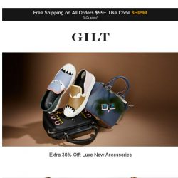 [Gilt] Extra 30% Off: Luxe New Accessories | Extra 30% Off: Joie and More Start Now