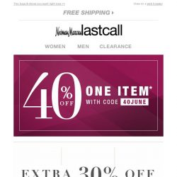 [Last Call] The World of Cole Haan | extra 30% off