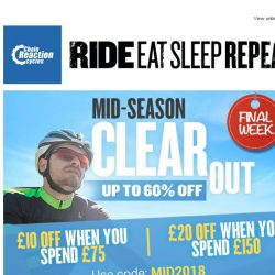 [Chain Reaction Cycles] Mid-Season Clearout - Extra Voucher Inside
