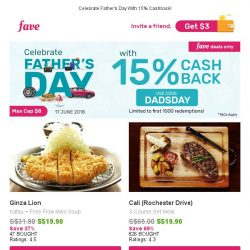 [Fave] Father's Day Specials: Cali (Rochester Drive), KidZania Singapore, Nails To Nails