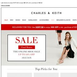 [Charles & Keith] FINAL HOURS | The Online Shoe Sale